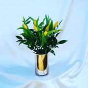 florero tulipan dorado