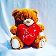 Oso corazon te amo Rojo 30 cm